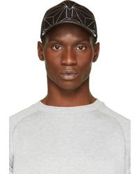 Casquette de base-ball imprimée noire et blanche Neil Barrett