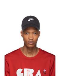 Casquette de base-ball imprimée noire et blanche Nike