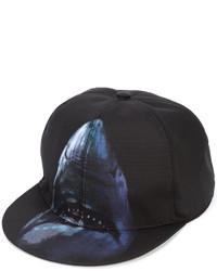 Casquette de base-ball imprimée noire Givenchy