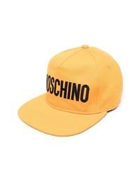 Casquette de base-ball imprimée orange Moschino
