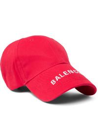 Casquette de base-ball imprimée rouge et blanc Balenciaga