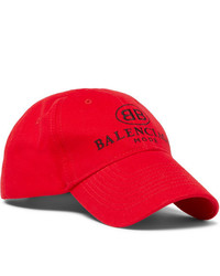 Casquette de base-ball imprimée rouge Balenciaga