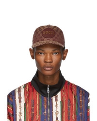 Casquette de base-ball marron Gucci