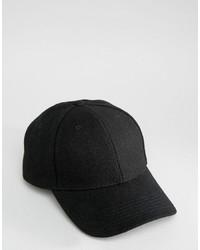 Casquette de base-ball noir Selected