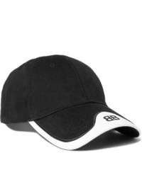 Casquette de base-ball noire et blanche Balenciaga