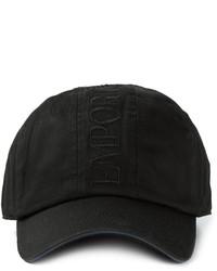 Casquette de base-ball noire Emporio Armani