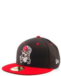 Casquette de base-ball rouge et noir
