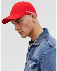 Casquette de base-ball rouge Jack & Jones