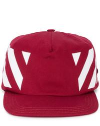 Casquette de base-ball rouge Off-White