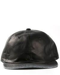 Casquette en cuir noire