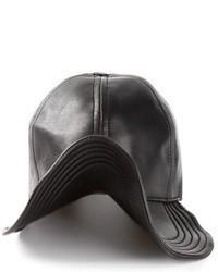 Casquette en cuir noire Kokon To Zai