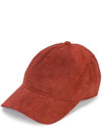 Casquette en cuir rouge Rag & Bone
