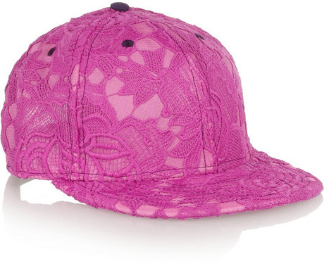 Casquette fuchsia House of Holland