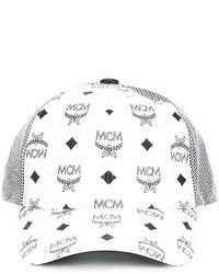 Casquette imprimée blanche MCM