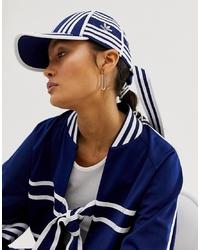 Casquette imprimée bleu marine et blanc adidas Originals