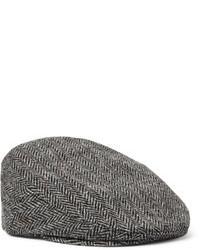 Casquette plate à chevrons grise Lock & Co Hatters