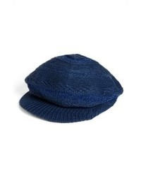 Casquette plate bleu marine