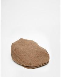 Casquette plate brun Brixton
