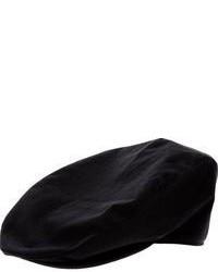 Casquette plate noire