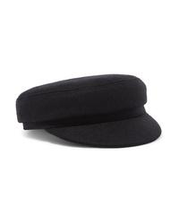Casquette plate noire Isabel Marant