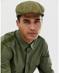 Casquette plate olive Barbour
