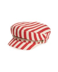 Casquette plate rouge