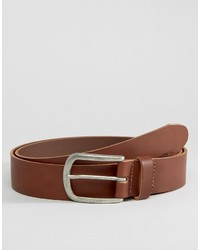 Ceinture en cuir brun Jack and Jones