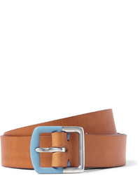 Ceinture en cuir marron clair Paul Smith