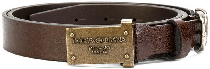 Ceinture en cuir marron Dolce & Gabbana