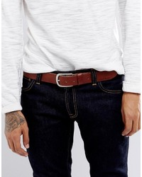 Ceinture en cuir marron Jack and Jones