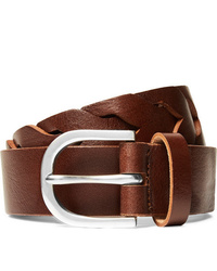 Ceinture en cuir marron Paul Smith