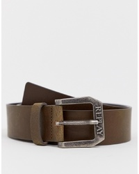 Ceinture en cuir marron Replay