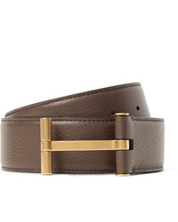 Ceinture en cuir marron Tom Ford