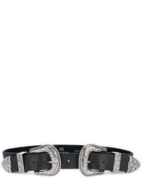 Ceinture en cuir noire B-Low the Belt