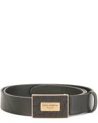 Ceinture en cuir noire Dolce & Gabbana