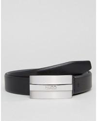 Ceinture en cuir noire Hugo Boss