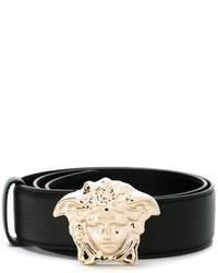 Ceinture en cuir noire Versace