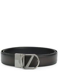 Ceinture en cuir noire Z Zegna
