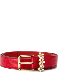 Ceinture en cuir rouge Dolce & Gabbana