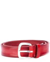 Ceinture en cuir rouge Orciani