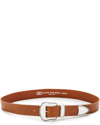 Ceinture en cuir tabac B-Low the Belt