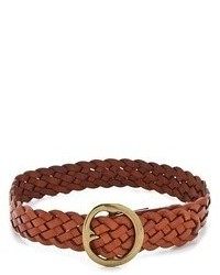 Ceinture en cuir tressée brune B-Low the Belt