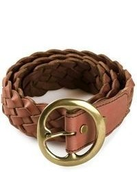 Ceinture en cuir tressée tabac B-Low the Belt