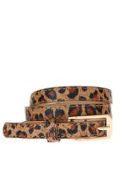 Ceinture en daim imprimée léopard marron clair Asos