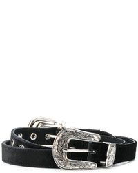 Ceinture en daim noire B-Low the Belt