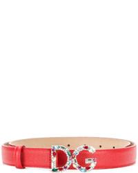 Ceinture rouge Dolce & Gabbana