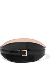 Ceinture serre-taille en cuir noire Alexander McQueen