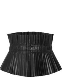 Ceinture serre-taille en cuir noire Isabel Marant