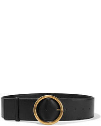 Ceinture serre-taille en cuir noire Stella McCartney