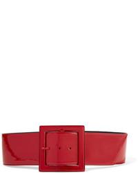 Ceinture serre-taille en cuir rouge Saint Laurent